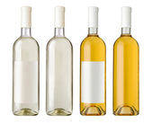 White wine bottle i — Stock Photo