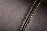Seam on leather — Foto Stock