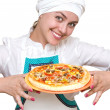 Attractive cook — Stock Photo
