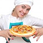 有吸引力的厨师 — 图库照片