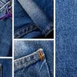 conjunto de los pantalones vaqueros — Foto de Stock