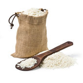 Bag of rice — Stock Photo
