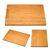 Kitchen bamboo cutting board — Stock Photo