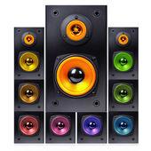 Series of audio speaker — Stock Photo