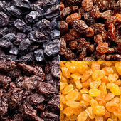 Varieties of raisins — Stock Photo