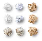 Set of Crumpled Paper — 图库照片