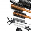 Scissors and combs - Stock Photo