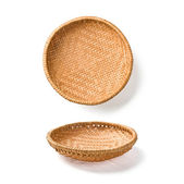 Two wicker plates — Stock Photo