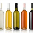 Set of white, rose, and red wine bottles. — Stock Photo #27521945