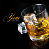 Whiskey glass — Stockfoto