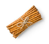 Crispy straw breadsticks — Stock Photo
