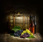 Still life with barrel — Stock Photo