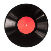 Black vinyl record — Stock Photo