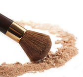 Isolated make-up powder — Stock Photo