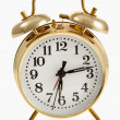 Golden Bell Alarm Clock — Stock Photo