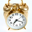 Royalty-Free Stock Photo: Golden Bell Alarm Clock