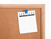 Corkboard mics notları — Stok fotoğraf