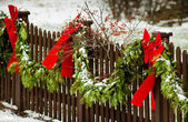 Outdoor Christmas Decor — Stock Photo