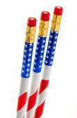 Set of Flag Pencils — Stock Photo