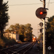 railroad crossing — Stock Photo