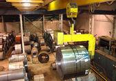 Steel Coil Crane — Stock Photo