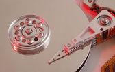 Intérieur du disque disque dur — Photo