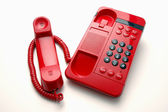 Red Hotline Phone — Stock Photo