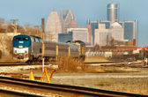 Commuter Train from Detroit — Stock Photo