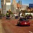 Stock Photo: Downtown Detroit Traffic
