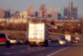 Autotrasporti semi — Foto Stock
