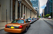 Taxi Cab Stand — Stock Photo