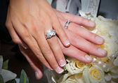 Wedding Ring Hands — Stock Photo