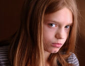 Abused and Angry Girl — Stock Photo