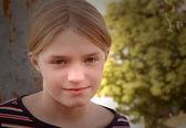 Urban Child Portrait in Summer — Stock Photo