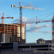 Towering Construction Crane Booms — Stock Photo