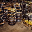 Automotive Steel Coil Warehouse - Stock Photo