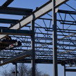 Structural Steel Construction Site — Foto de stock #14958595