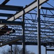 Structural Steel Construction Site - Stock Photo