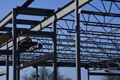 Structural Steel Construction Site — Stock Photo