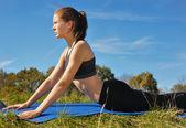 Runner Girl Workout — Stock Photo