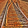 Stock Photo: Railroad Tracks HDR