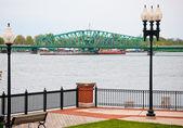 Most na wyspę michigan — Zdjęcie stockowe