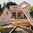 Stock Photo: New House Construction