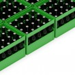 Group of Beer Crates isolated on white background with place for your text — Stock Photo