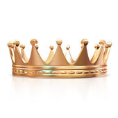 Golden Crown isolated on white background — Stock Photo