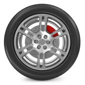 Car Wheel isolated on white background — Stock Photo
