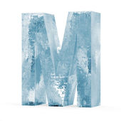 Icy Letters isolated on white background (Letter M) — ストック写真