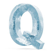Icy Letters isolated on white background (Letter Q) — Stock Photo