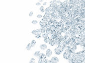 Blue Diamonds on white background with place for your text — Stock Photo