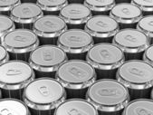 Group of Metal Beer Cans — Stock Photo